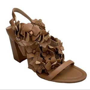 Tory Burch Blossom Leather Heels Sandals 7.5